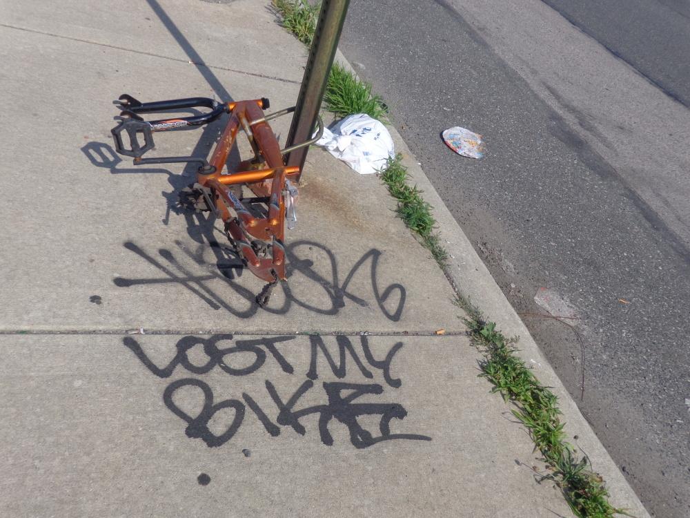 lost my bike