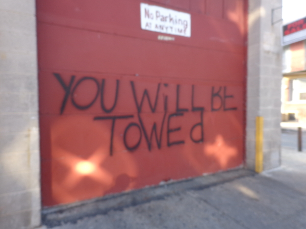 you will be towed