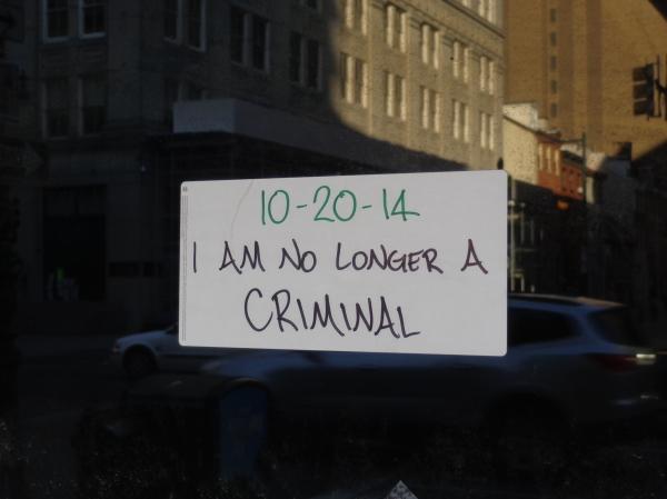 I am no longer a criminal