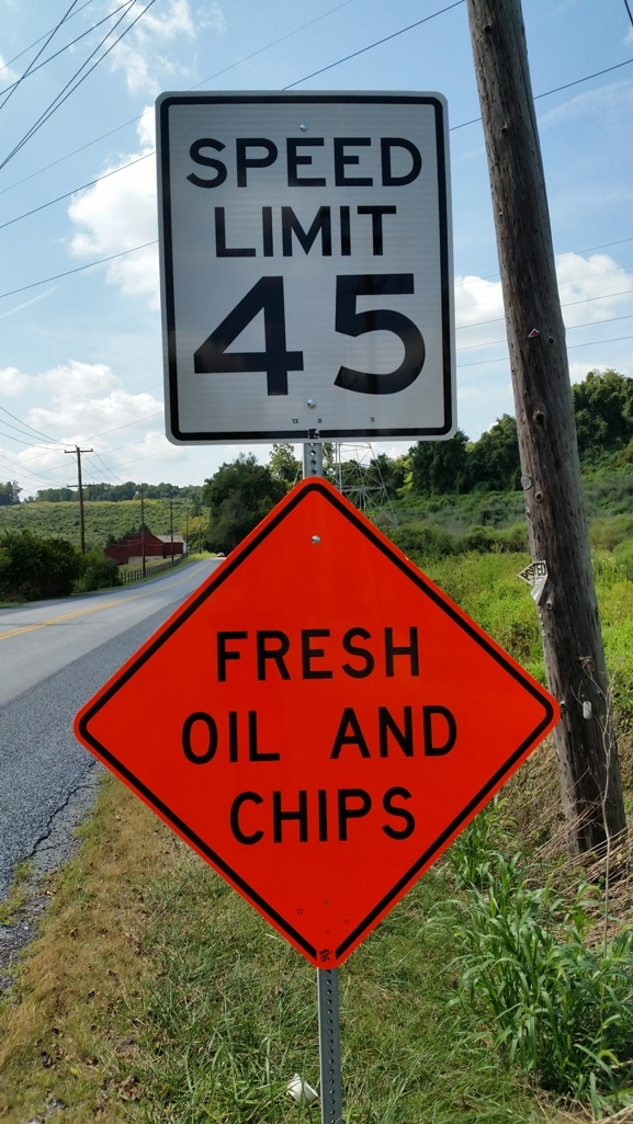 Fresh oil and chips