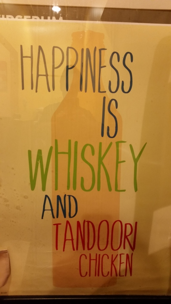 Whiskey & tandoori