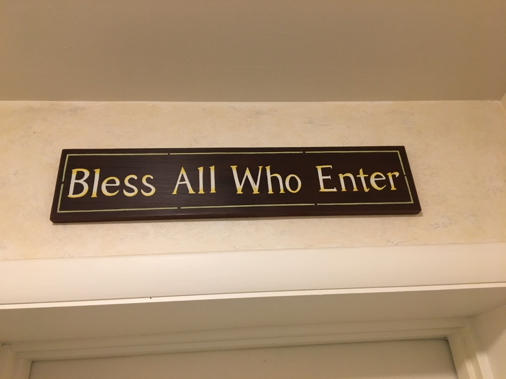 Bless all who enter
