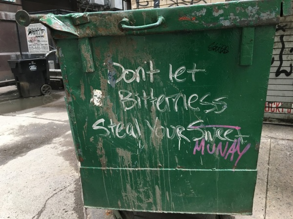 don't let bitterness steal your munay