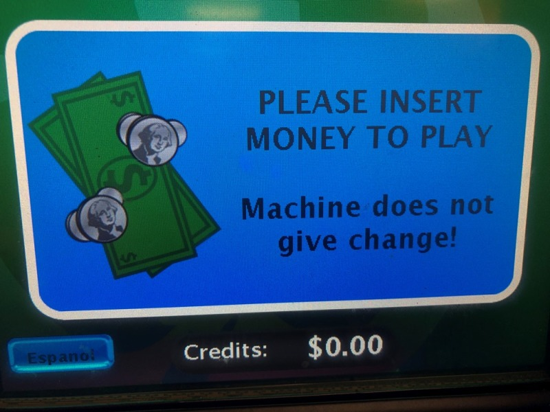 Machine does not give change