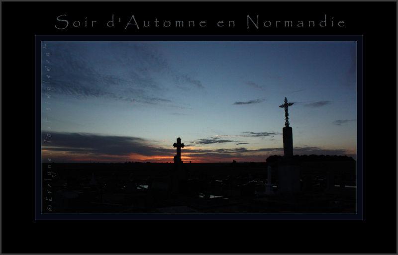 Coucher de soleil sur le petit cimetière d'Epieds