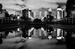 Reflecting pond in Shanghai China