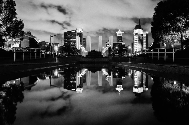 Reflecting pond in Shanghai China