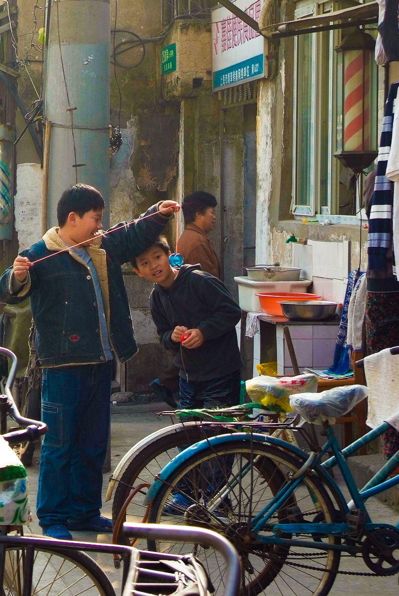 Children at Play, (Shanghai Old City)