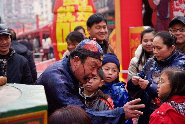 Nanjing China Puppet Puppeteer Street photography