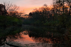 sunrise lake water reflection fujifilm