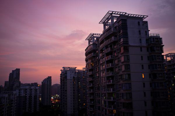 Sunset over Shanghai