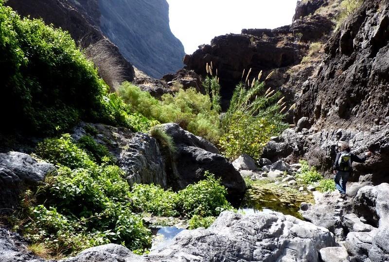 La descente du Barranco ...