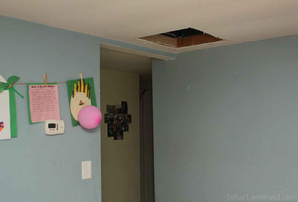 Another hole in the ceiling