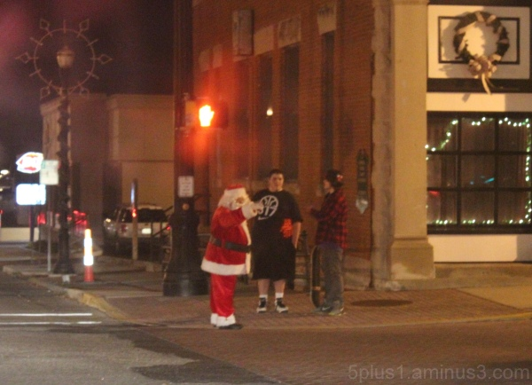 Santa on the Street Corner