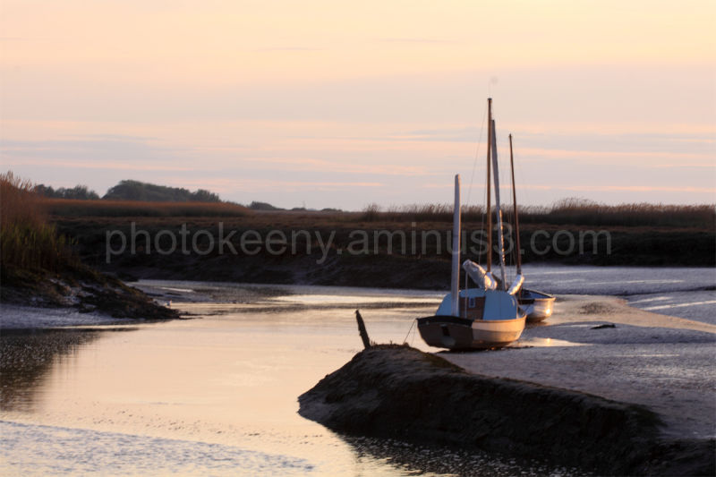 sun set on boat
