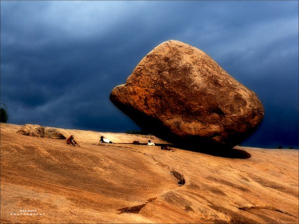 La roche et les petites chèvres...