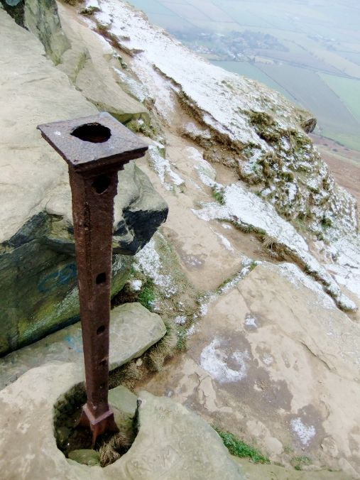 old iron post on Roseberry Topping