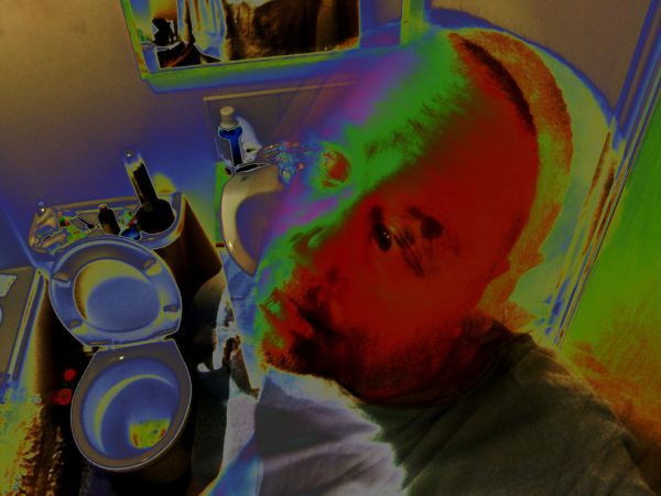 psychedelic toilet