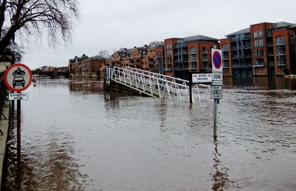 The river Ouse regularly floods
