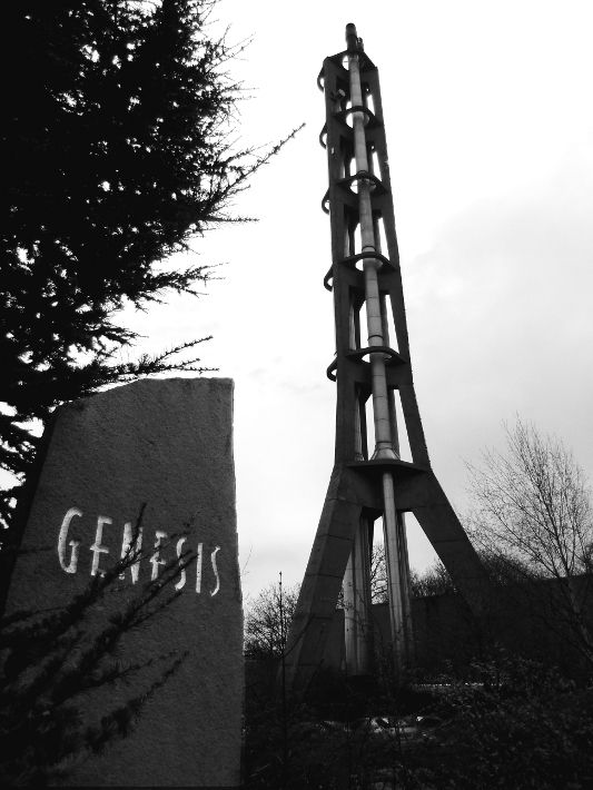 rocket ship vent tower near york