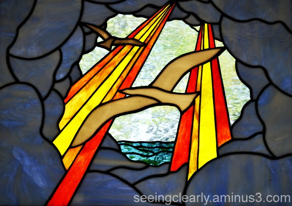 Doves in Stained Glass