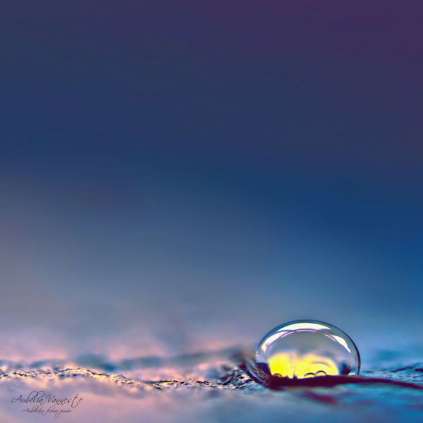 A drop that shines