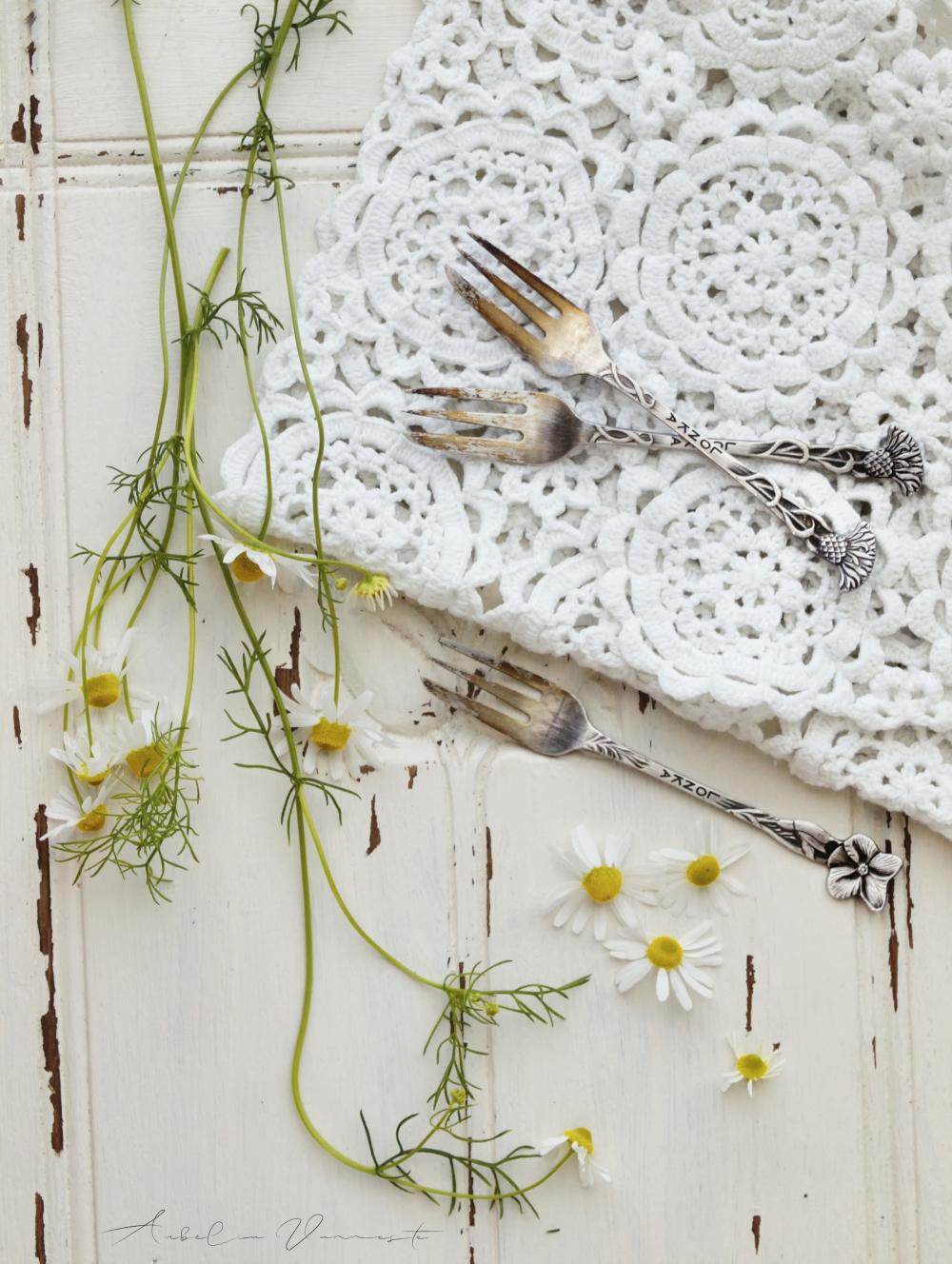 Scène avec des fleurs sauvages