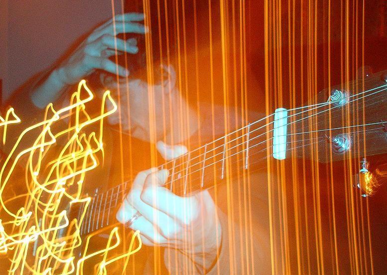 music artsy abstract guitar warm light