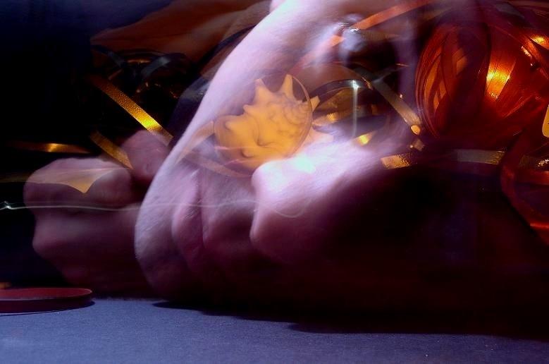 portrait abstract artsy orange-light