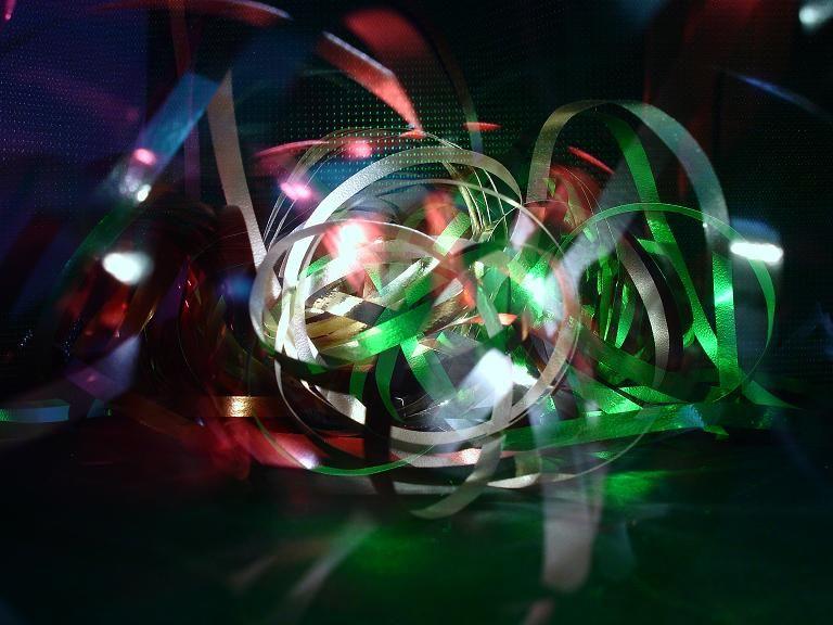 artsy abstract light ribbons photo art