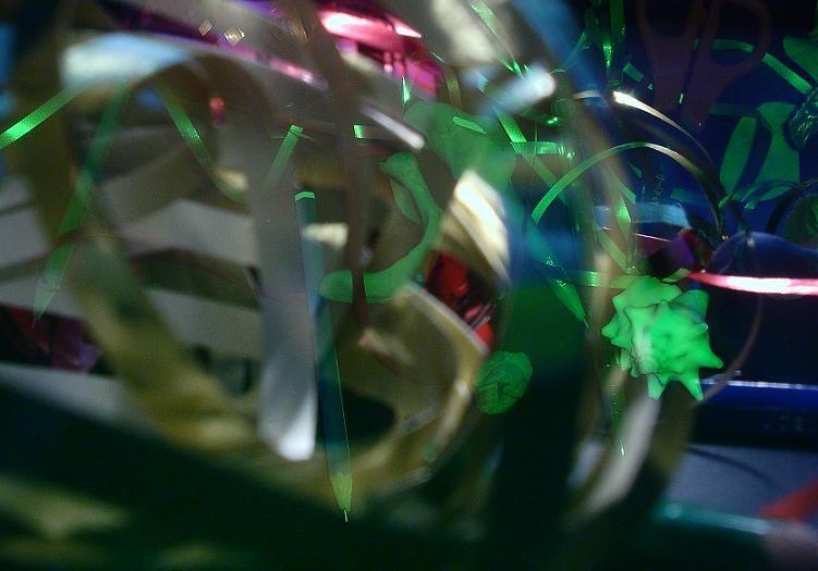 artsy abstract light ribbons conch shell art photo