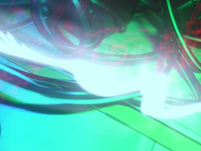 electric light green-light blue-light artsy bright