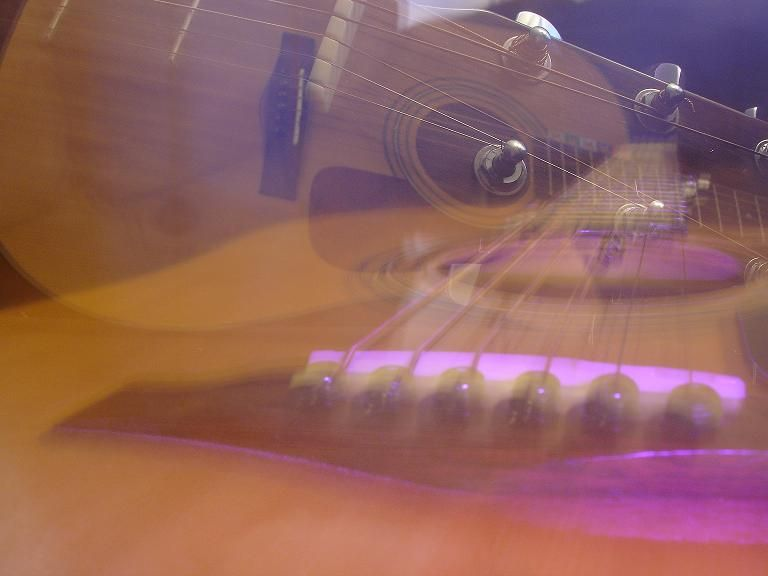 music guitar purple-light artsy experiment photo