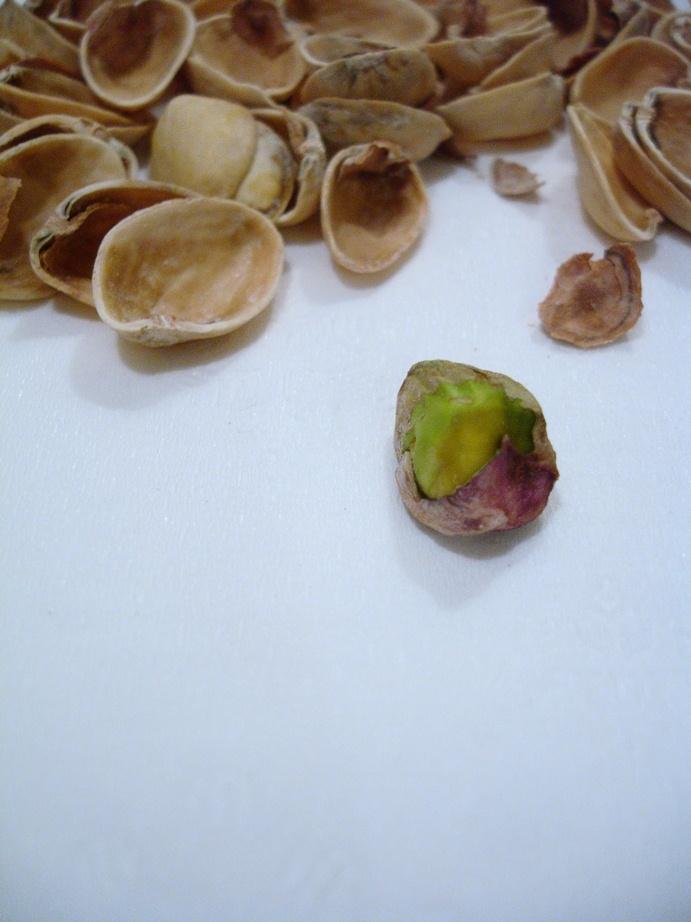 a fine art close-up photograph of pistachio nut