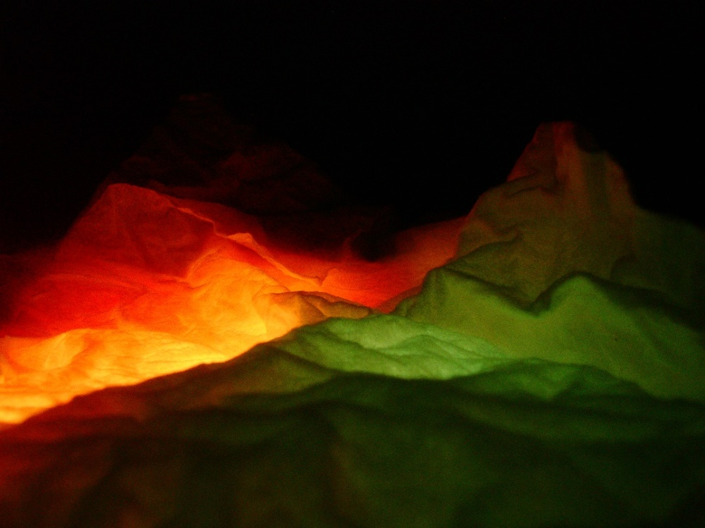 a fine art close-up photograph of backlit tissue