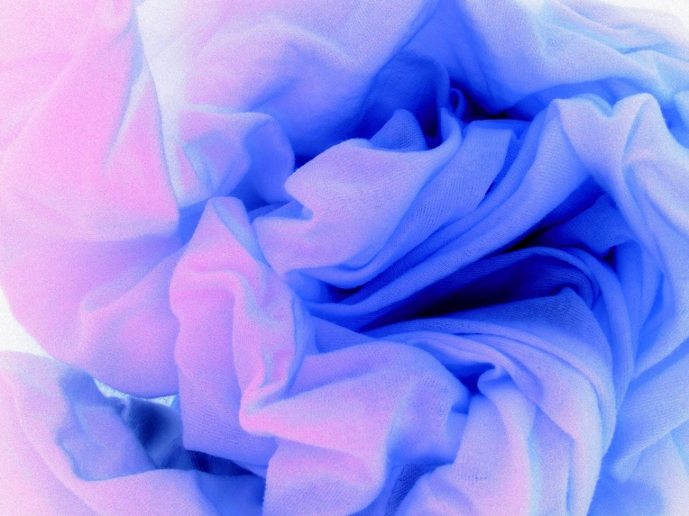 An icy blue abstract art photo