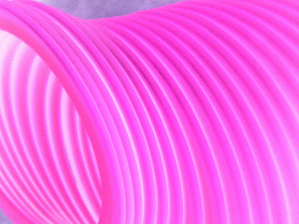 Experimental inverted close up photo of slinky