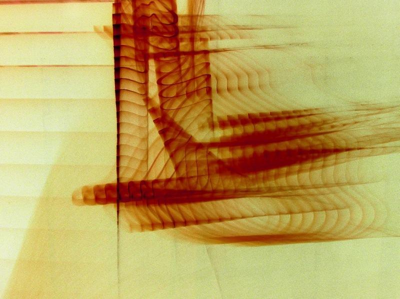 non-representational inverted light-writing photo