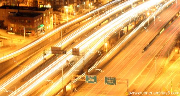 slow shutter speed highway