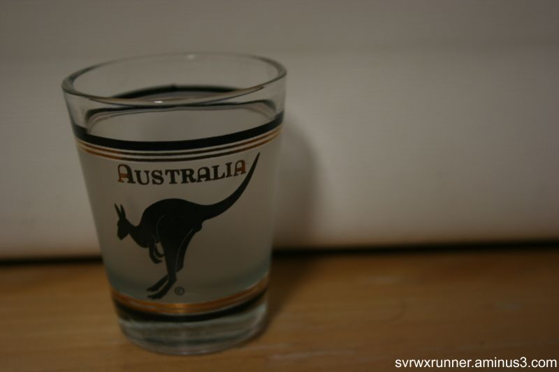 shot glass australia kangaroo