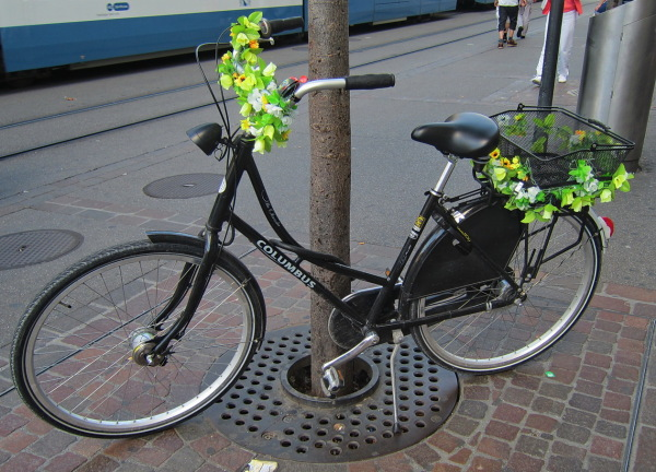 Bicicleta florejada