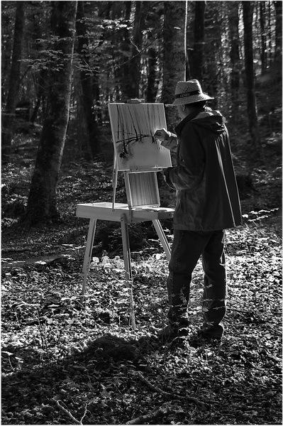 Pintant la fageda