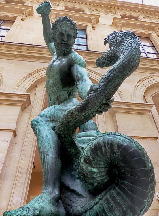 Hèrcules lluitant amb Acheloos transformat en serp