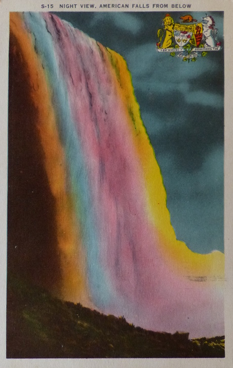 Niagara Falls. Postcard of the 40's   50s.