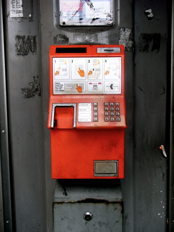 Pay Phone, Stamford Hill, London, October 6 2008