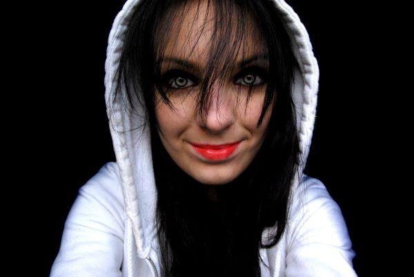 ugi girl female black red dark