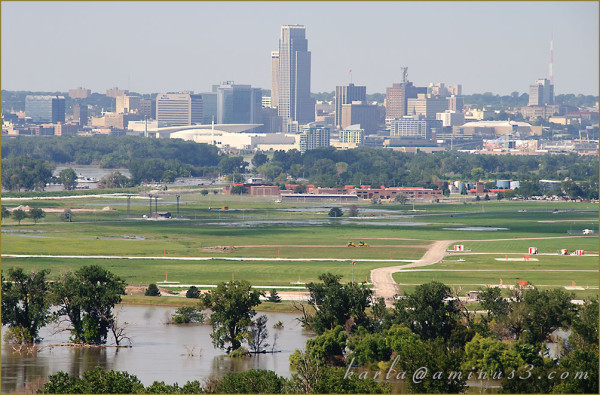 Missouri-River, Omaha, Flood