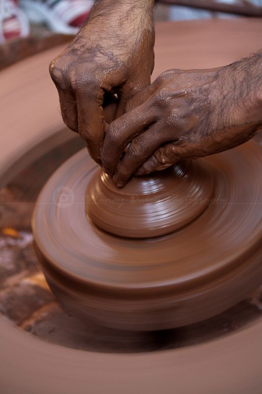 Traditional India pottery maker