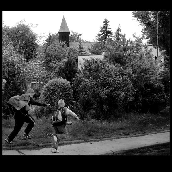 village children - running