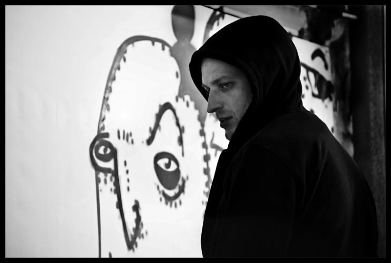 Portrait of a graffiti painter